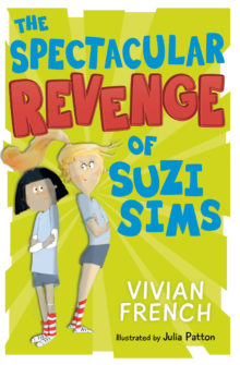 book cover with picture of suzi sims and teacher miss grit stood back to back